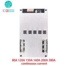 4 s 리튬 이온 lifepo4 리튬 3.2 v 배터리 보호 보드 bms 12 v 16.8 v 밸런스 80a 120a 150a 160a 200a 380a 연속 18650 lipo