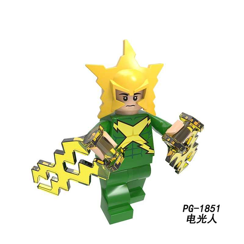 ขายเดียว Building Blocks Super Heroes Superman Electro Poison Ivy Venom Ocean Master Doctor Fate ตัวเลขเด็กของเล่น PG8210
