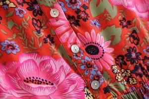 Image 4 - فستان نسائي طويل كلاسيكي أنيق مزين بالدانتيل بطباعة الأزهار على الشاطئ بتصميم بوهيمي فستان سيدات صيفي بوهو من رايون