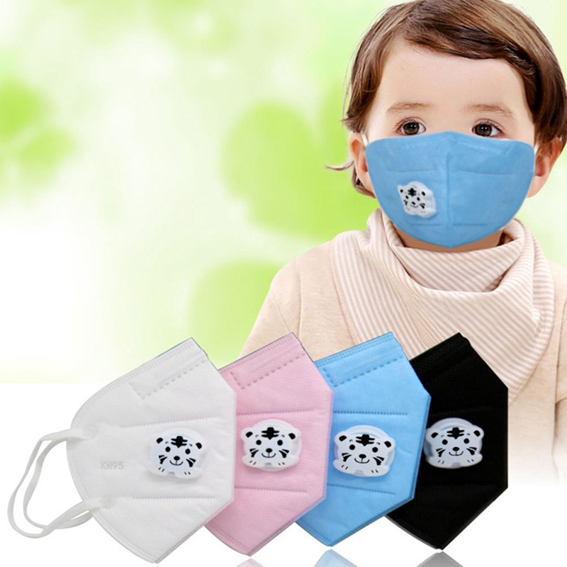Non-woven Fabric Material 2-12Y Kids Face Mask Cute Cartoon Tiger Pattern Disposable Non Woven Solid Color Face Mask