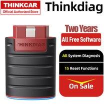 Thinkcar thinkdiag obd2 scanner leitor de código sistema completo obdii scanner automotivo obd2 ferramenta de diagnóstico 15 serviços reset