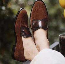 Men Shoes Low Heel Shoes Dress Shoes Brogue Shoes Spring Ankle Boots Vintage Classic Male TV420