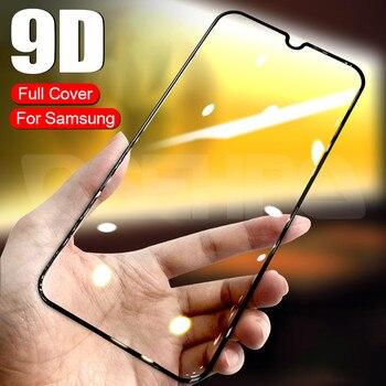 Перейти на Алиэкспресс и купить 9D закаленное стекло для Samsung Galaxy A10 A30 A50 A70 Защитная пленка для экрана Samsung A20E A10S A20S A30S A40S A50S A70S M10S M30S стекло