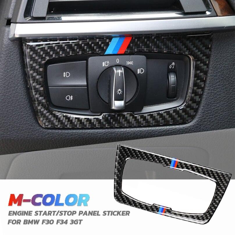 2012-2020 Car Steering Wheel Button Sticker Carbon Fiber Cover Trim Frame Decoration for BMW F30 F31 F32 F33 F34