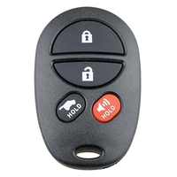 Car Smart Remote Key 4 Buttons Car Key Fob Fit for Toyota Sienna 2004-2009 315Mhz Gq43Vt20T