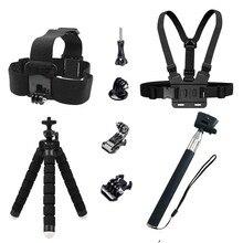 Action camera Accessories Kit for Gopro Hero 9 8 7 6 5 4 Selfie Stick Monopod Mounts for SJCAM SJ4000 Tripod for Yi 4K EKEN H9R