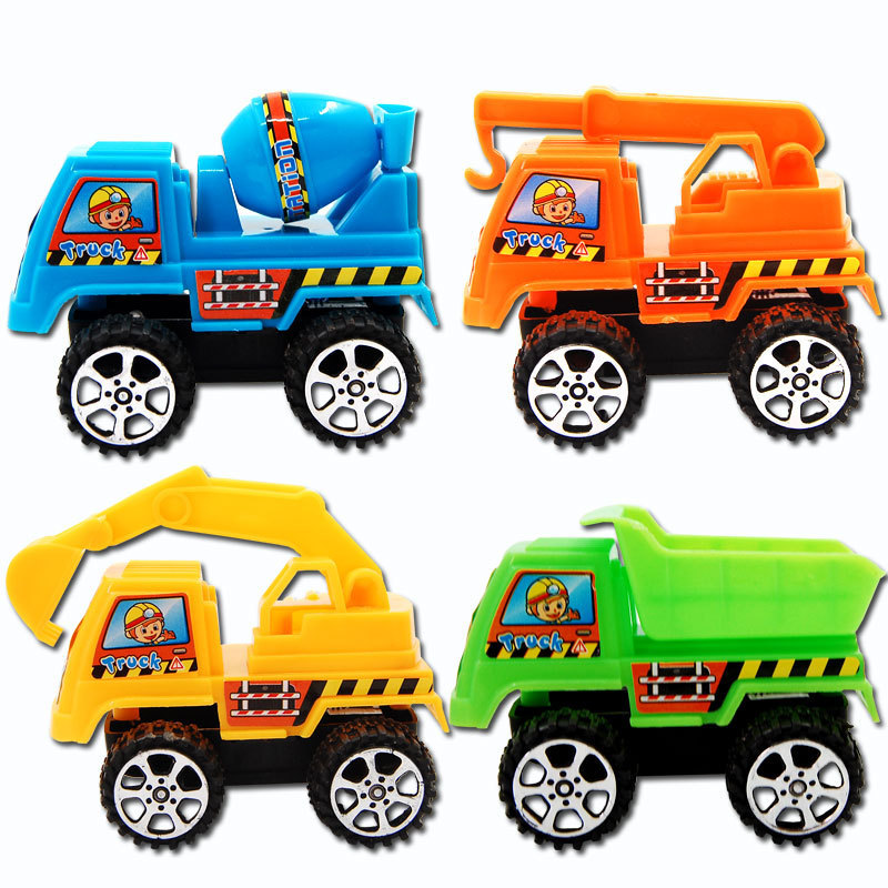 Mini Pull Back Shop Truck Toys Powerful Truck Colourful Cartoon Mobile Machinery Shop Model Educational Toys Kids Gifts Hot Sale