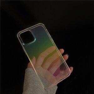 Image 3 - Dla iphone 12 12Pro Max przezroczysty laser odporny na wstrząsy etui dla iphone 11 11pro X XR XS Max 7 8Plus SE twardy akryl skrzynki pokrywa