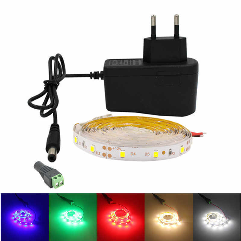 5 m/לחמניות 2835smd LED stirp RGB קלטת tiras גמיש ניאון 5050SMD led חבל אור סלון 12v מיעון