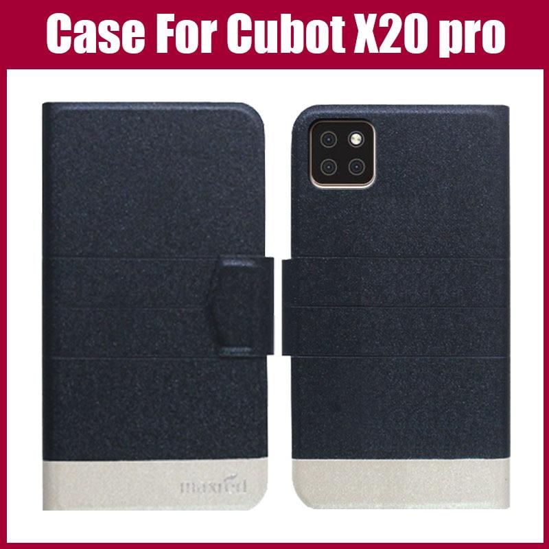 Offre spéciale! Cubot X20 pro étui 5 couleurs rabat Ultra-mince mode cuir téléphone housse de protection pour Cubot X20 pro étui