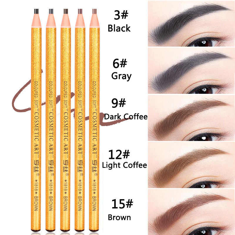 1PCS di Trucco Dorato Matita Per Gli Occhi per eyeshadowNatural di Lunga Durata Tatuaggio Sopracciglia Sopracciglio Impermeabile di Trucco Set di Strumenti di Bellezza