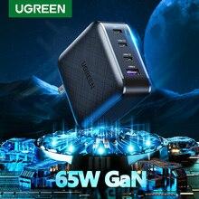 Ugreen cargador GaN USB tipo C para Apple MacBook Air, iPad Pro, Samsung, tableta, Cargador rápido para Nintendo Switch, 65W