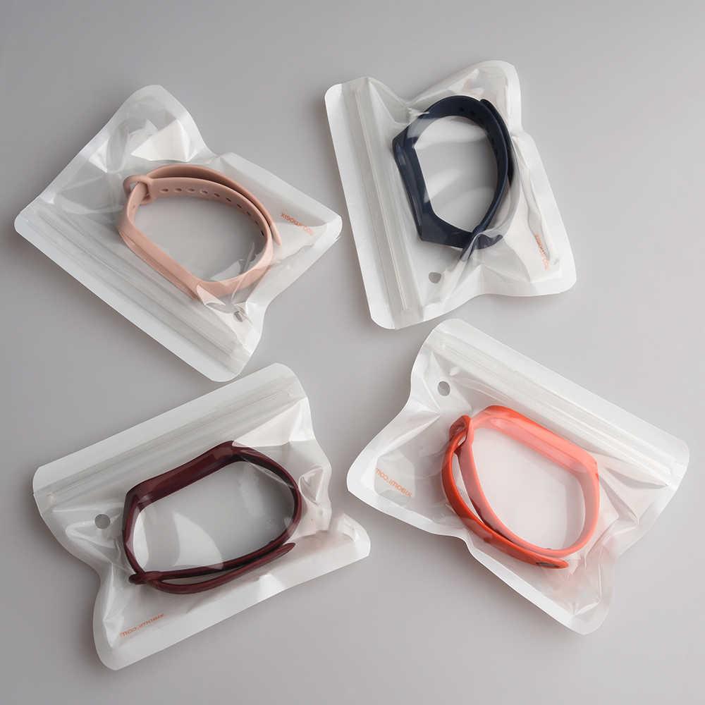 Für Xiaomi Mi Band 5 4 3 Silikon Rosa Ersatz Armband Armband Armband Für Xiomi Mi Band3 Miband 4 3 band4 Handgelenk Gurt