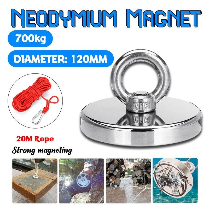 Maximum 700KG forte aimant néodyme aimant rond épais boulon à œil chasse au trésor aimants plus fort Permanent magnétique aimant de pêche
