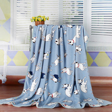 free shipping Double double thickening Flannel Baby Blanket/Children Girl's Soft Coral Quilt kitty Cartoon Characters Blankets free shipping infant children cartoon thick coral cashmere blankets baby nap blanket baby quilt size is 110 135 cm t01
