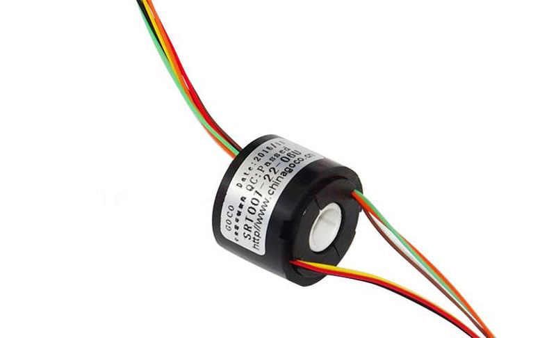 1PC 4ch 6ch 径 7 ミリメートル中空軸スリップリング 1.5A 導電性ロータリージョイント外径 22 ミリメートルコレクタスリップ rc ジンバルモーター