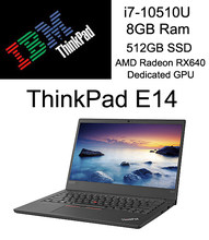 2020 Lenovo ThinkPad E14 Business Laptop With i7-10510U Processor 8GB Ram 512GB SSD Memory AMD Dedicated GPU 14 Inch Led Screen(China)