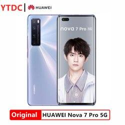 New HuaWei Nova 7 Pro 5G Smart Phone Kirin 985 SOC 4000mAh 64.0MP Main Camera NFC 10V4A Charger 6.57'' OLED Screen Cell Phone