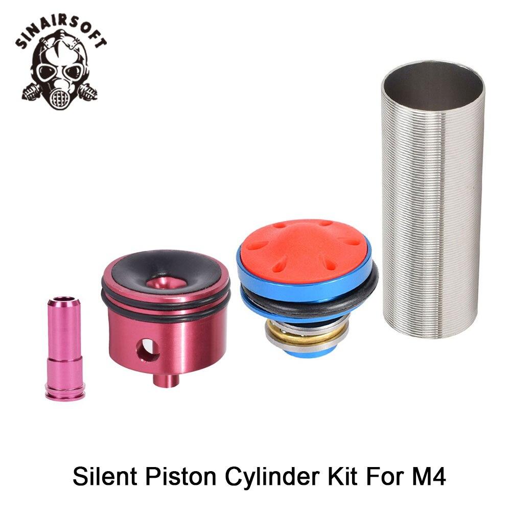 Vendita MA 4pcs Testa del Cilindro/pistone Testa/ugello/Cilindro Set Per M4 Series Airsoft AEG Paintball tiro Caccia Accessori