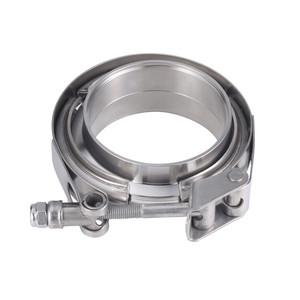 """Image 2 - 304 Stainless Steel Car 3 V band Exhaust Male Female Flange 38mm 76mm 3 Vband Clamp 3 V band Clamp 2.5"""" 3"""" 3.5 4 Inch"""
