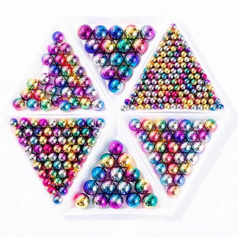 Mix rozmiar okrągły bez otworu akryl ABS sztuczna perła/okrągłe plastikowe akrylowe paciorek do naszyjnika na zdobienie paznokci dekoracje DIY tworzenia biżuterii