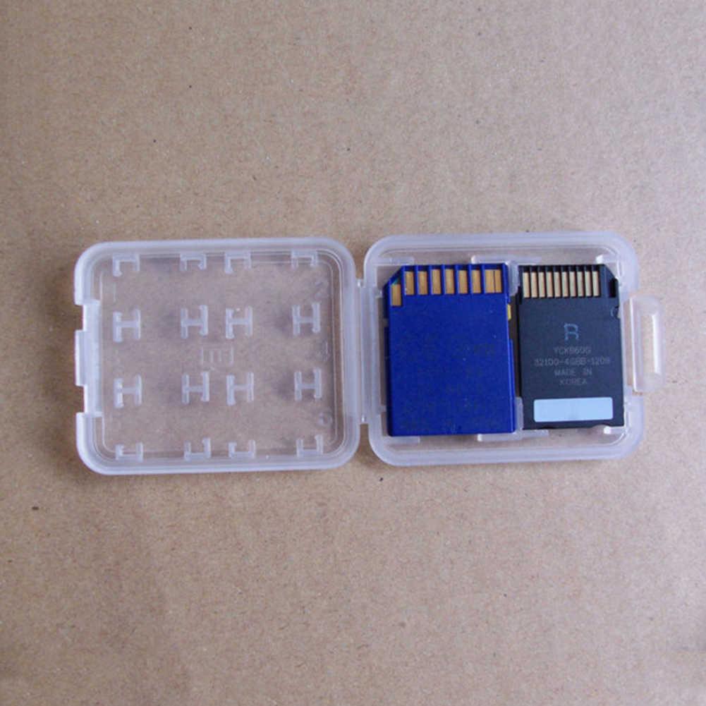 8 fentes pour cartes boîte de rangement de carte mémoire en plastique pour SD/Micro SD TF/MSPD boîte de rangement support de protection étui rigide étui de Style Simple