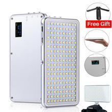 Карманный светодиодный светильник на камеру, 180 светодиодов, ультратонкий, с регулируемой яркостью, батарея 4000 мАч, фотографический светильник для Canon, Sony, DSLR камеры s