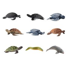Simulation Great White Shark Whale Marine Life Model Turtle Penguin Underwater World Children Animal Toys