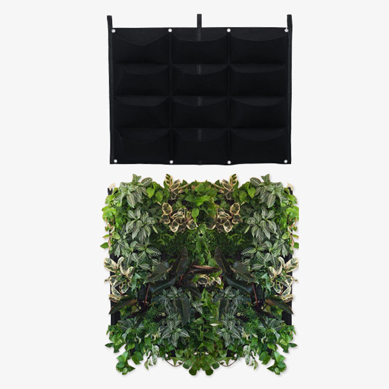 4/7/12 Pockets Gardening Grow Pocket Indoor Outdoor Wall Hanging Vertical Planting Storage Bag Seedling Container Growing Bags|Grow Bags| |  - title=
