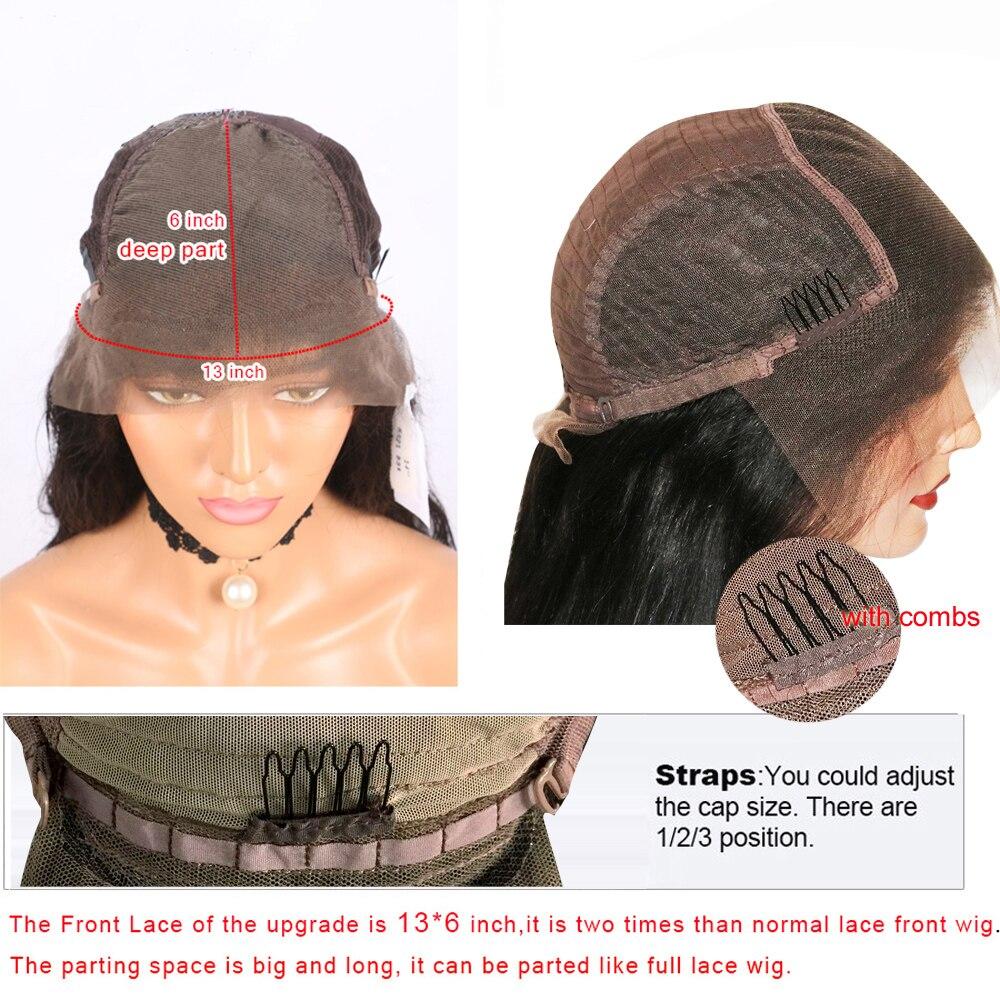 Бразильский Волосы remy Выделите волнистые 13X6 Синтетические волосы на кружеве парики с детскими волосами 150% Плотность средняя соотношение С... - 5