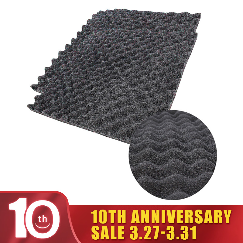 50 X 50cm Thickness 1.5cm Black Acoustic Foam Treatment Sound Proofing Sound-absorbing Cotton Noise Sponge