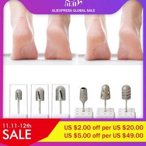 Image 1 - NEW 80/120/180# Nail Drill Bit Diamond pedicure polishing Cap Foot Callus Cuticle Cutters Burr Bits Manicure Accessories Milling