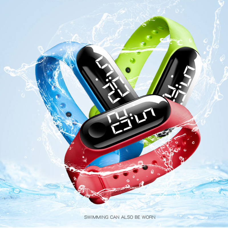 2020 Electronic New Watch Digital Silicone Strap Bracelet Watch For Women Men Unisex LED Watches Sport Touch Screen Waterproof