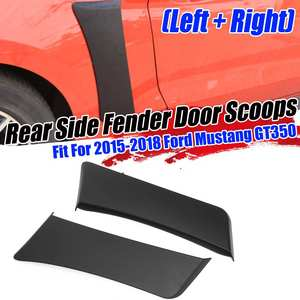 2pcs Car Front / Rear Side For Fender Door Scoops Plate For Ford For Mustang GT350 2015 2018 R Style Car For Fender Scoops Cover|Exterior Door Panels & Frames| |  -