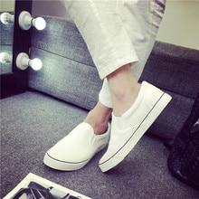 Couple Canvas Shoes Men's Shoes All Whit
