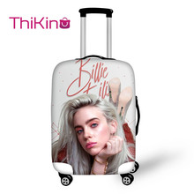 Thikin Billie Eilish Travel Luggage Cover for Girls Cartoon School Trunk Suitcase Protective Bag Protector Jacket