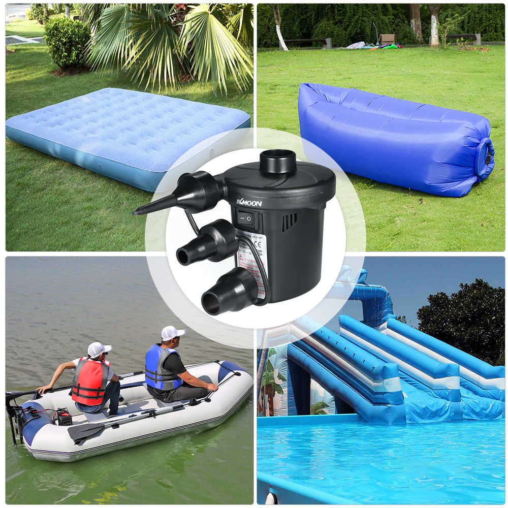 New USB Rechargeable Auto Car Electric For Camping Air Bed Inflate Inflator Air Pump Inflatable Boat Pump for Mattress
