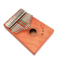17 Keys Kalimba African Solid Mahogany Thumb Finger Piano Wood Kalimba Portable Musical Instrument