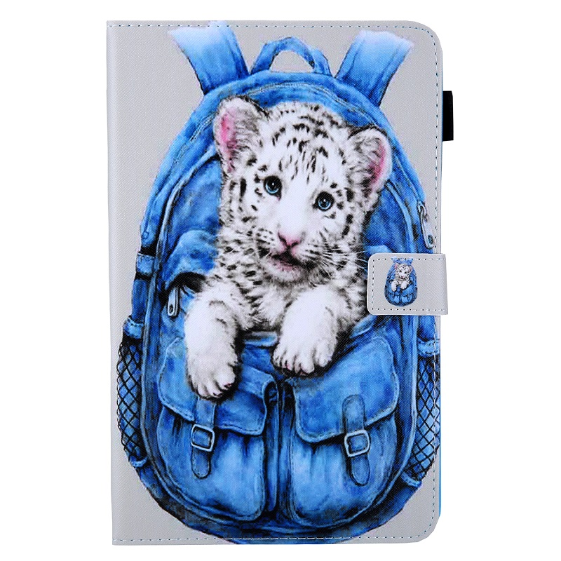 White Tiger Beige Case for New iPad 10 2 2019 Tablet Funda Magnetic Stand Smart Cover for iPad 7th