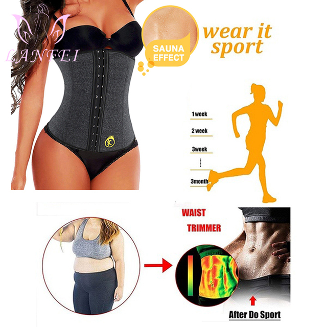 LANFEI S-6XL Body Shaper Corset Waist Trainer Slimming Belt for Women Neoprene Weight Loss Sweat Gym Fitness Modeling Underwear 1