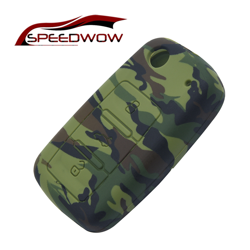 SPEEDWOW Silicone Car Key Case Cover For VW Volkswagen Touareg GTI Cabrio CC R32 Sharan Amarok Beetle CrossFox Plus Scirocco