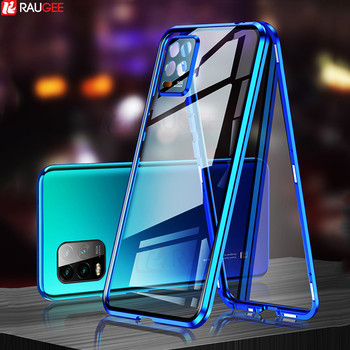 Magnetic Case for Xiaomi Mi 10 Lite Case Double-Sided Tempered Glass with Camera Protect Case for Xiaomi 10 Lite Mi10 Lite Case