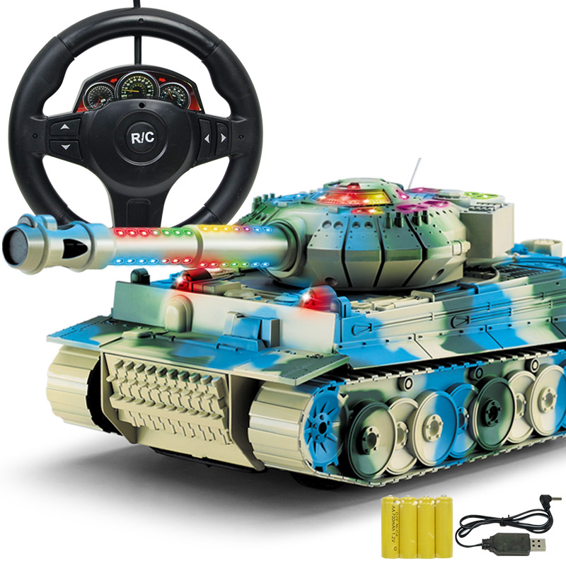 Light Sound Stone Model Remote Control Tank Chargeable Boy CHILDREN'S Toy Electric Remote Control Car