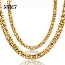N7m7 золотая цепочка из нержавеющей стали в стиле хип хоп МАЙАМИ