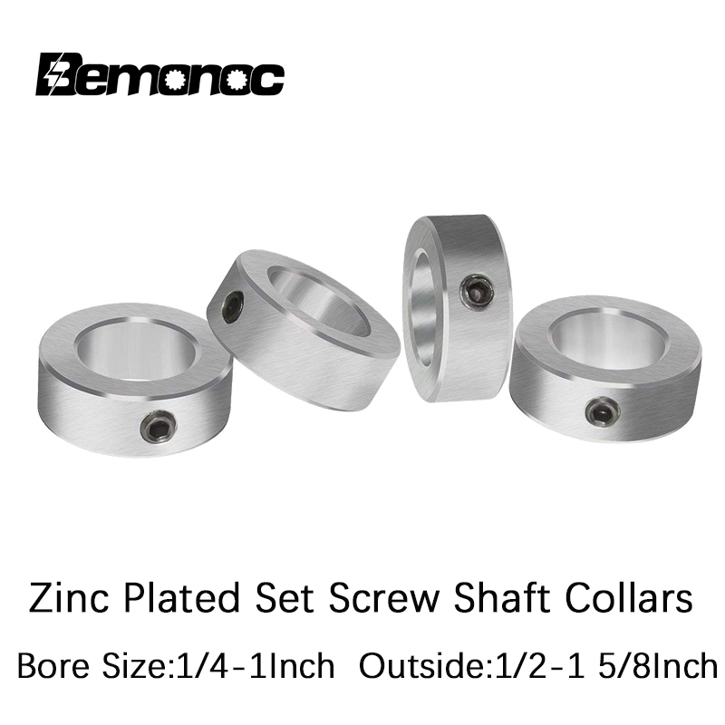 "5//16"" Bore Shaft Solid Steel Zinc Plated 100 PCS Set Screw Collar Free Ship"