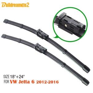 Buildreamen2 2 sztuk samochodów bezramowe przednia szyba z miękkiej gumy wycieraczka ostrza dla Volkswagen Jetta 6 2012-2016