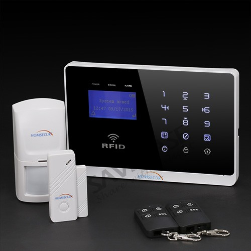 HOMSECUR App Controlled Wireless&Wired GSM Home Security Alarm System+ IOS/ Android App