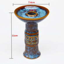 Ceramic Hookah Bowl with Big Funnel Tobacco for Keloud Lotus Charcoal Stove Burner Chicha Narguile Smoking(China)