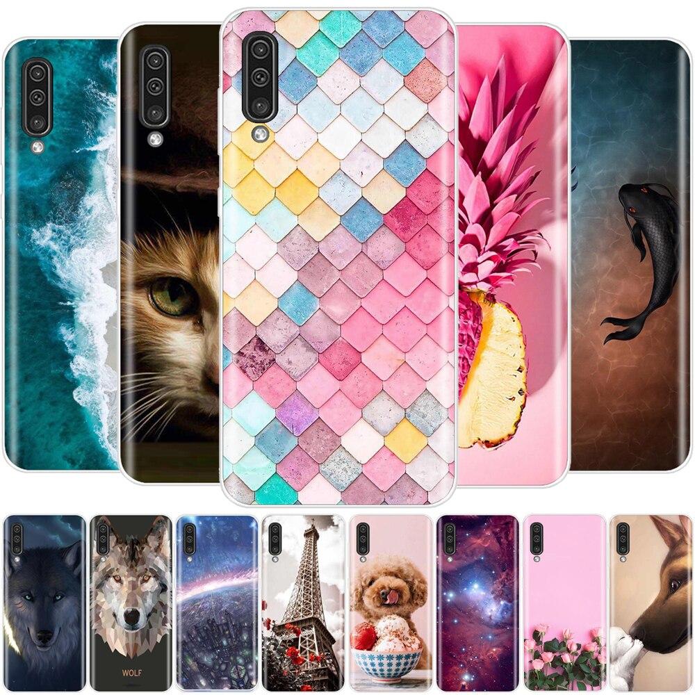 For Samsung Galaxy A50 Case Silicon Cute Animal Soft Tpu Phone Capa Cover