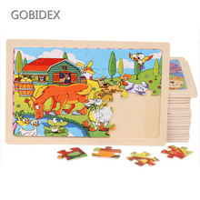 20 Style 24Pcs Wooden Toys Lovely Animal Puzzle Toys Personalized Jigsaw Hand-Eye Coordination Intellectual Development цены